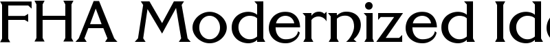 FHA Modernized Ideal ClassicNC Font
