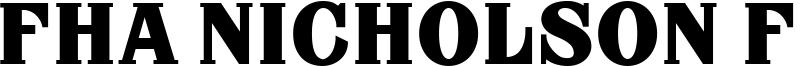 FHA Nicholson French NCV Font