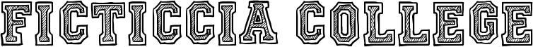 Ficticcia College Font