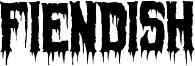 Fiendish Font