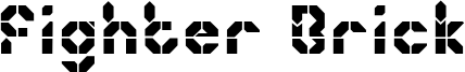 Fighter Brick Font