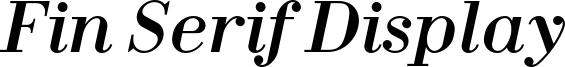 Fin Serif Display Font