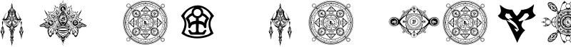 Final Fantasy Symbols Font