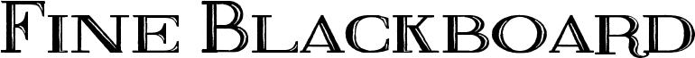 Fine Blackboard Font