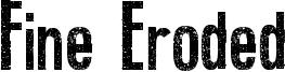 Fine Eroded Font
