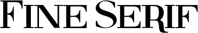 Fine Serif Font