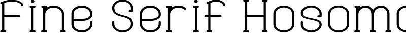 Fine Serif Hosomozi G Font