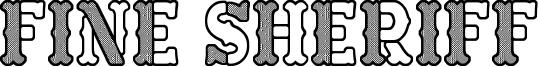 Fine Sheriff Font
