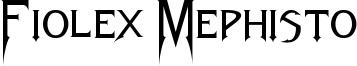 Fiolex Mephisto Font