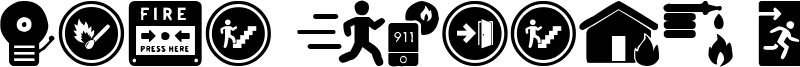 Fire Safety Icons Font