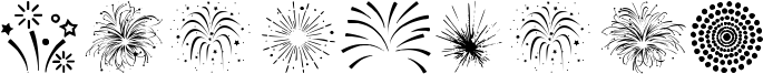 Fireworks Font