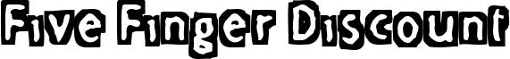 Five Finger Discount Font