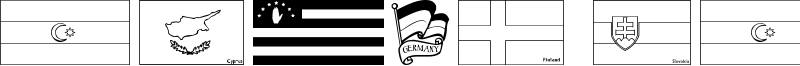 Flags of Europe Font