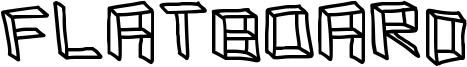 Flatboard Font