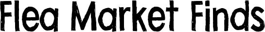 Flea Market Finds Font