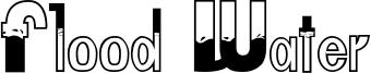 Flood Water Font