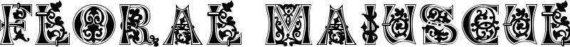 Floral Majuscules, 11th c. Font