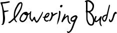 Flowering Buds Font