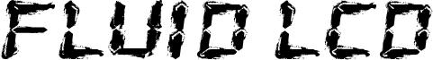 Fluid LCD Font