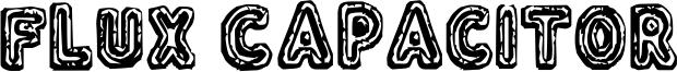 Flux Capacitor Font