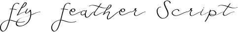 Fly Feather Script Font