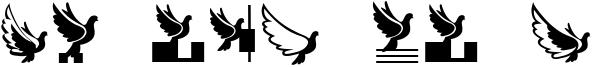 Flying Birds Font