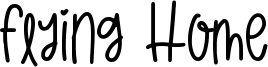 Flying Home Font