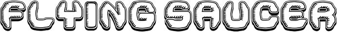 Flying Saucer Font