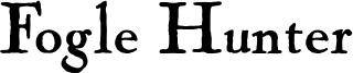 Fogle Hunter Font
