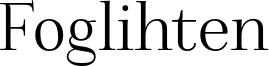 Foglihten Font