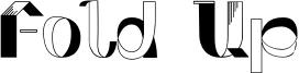 Fold Up Font