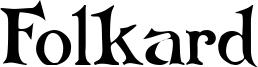 Folkard Font