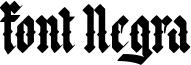 Font Negra Font