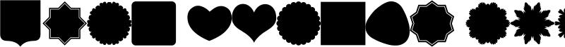 Font Shapes 2019 Font