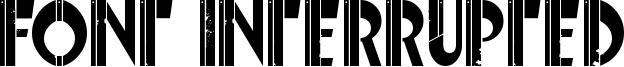 Font Interrupted Font