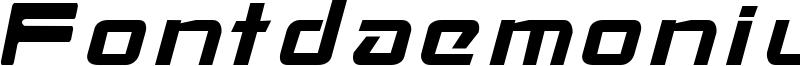 Fontdaemonium Font
