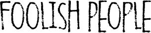 Foolish People Font