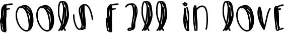 Fools Fall In Love Font
