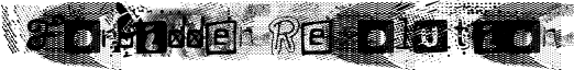 Forbidden Resolution Font