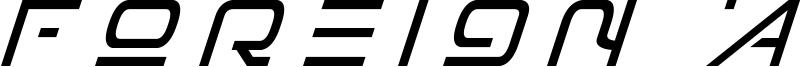 Foreign Alien Font