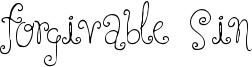 Forgivable Sin Font