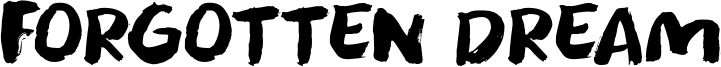 Forgotten Dream Font