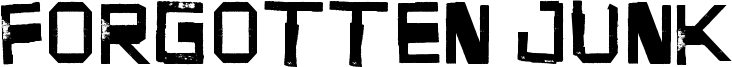Forgotten Junk Font