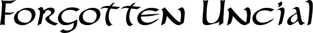 Forgotten Uncial Font