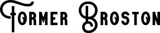 Former Broston Font