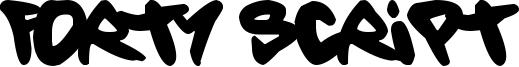 Forty Script Font