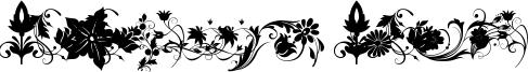 Fotograami Flower Font