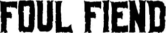 Foul Fiend Font
