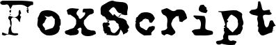 FoxScript Font