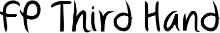 FP Third Hand Font